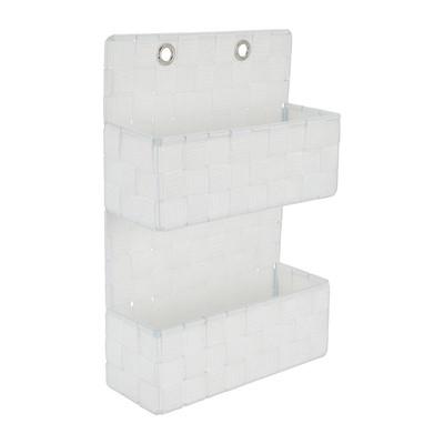 Hangmandje gevlochten - wit