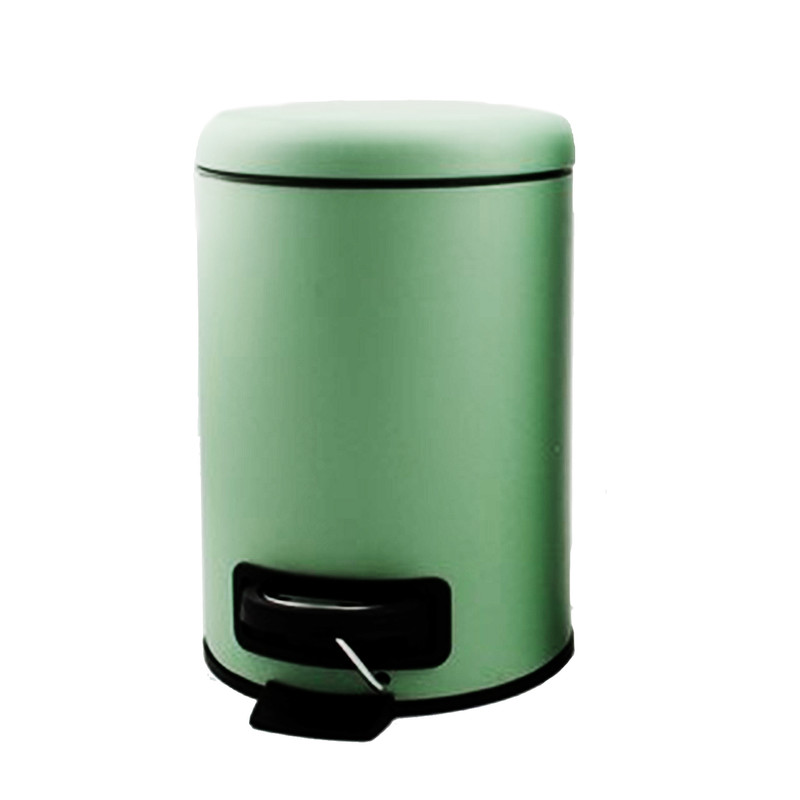 Pedaalemmer metaal - groen - 3 liter
