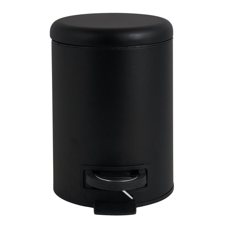 Pedaalemmer metaal - zwart - 3 liter