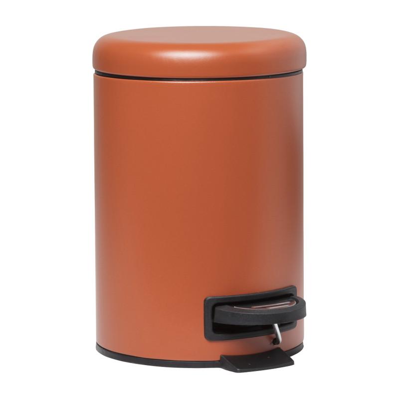 Pedaalemmer metaal - terra - 3 liter