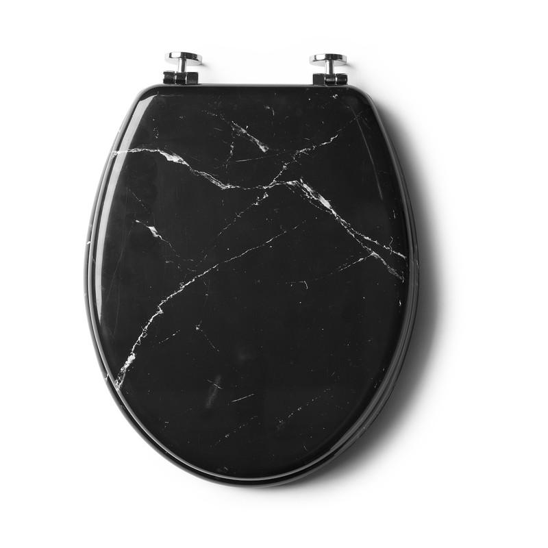Wc Bril Xenos.Toiletbril Marmer Zwart