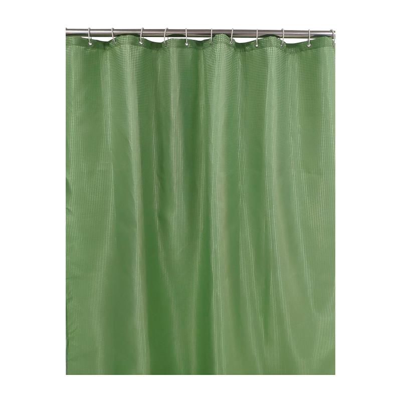 Douchegordijn jacquard - groen - 180x200 cm