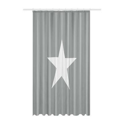 Douchegordijn ster - 180x200 cm - grijs