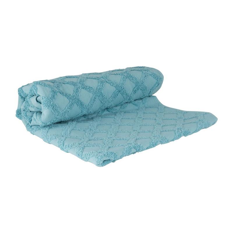 Handdoek X - 70x140 cm - blauw