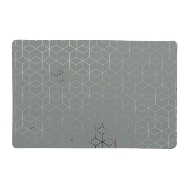 Placemat honingraat - grijs/zilver - 28.5x43.5