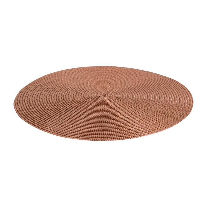 Placemat rond - goud - 38 cm