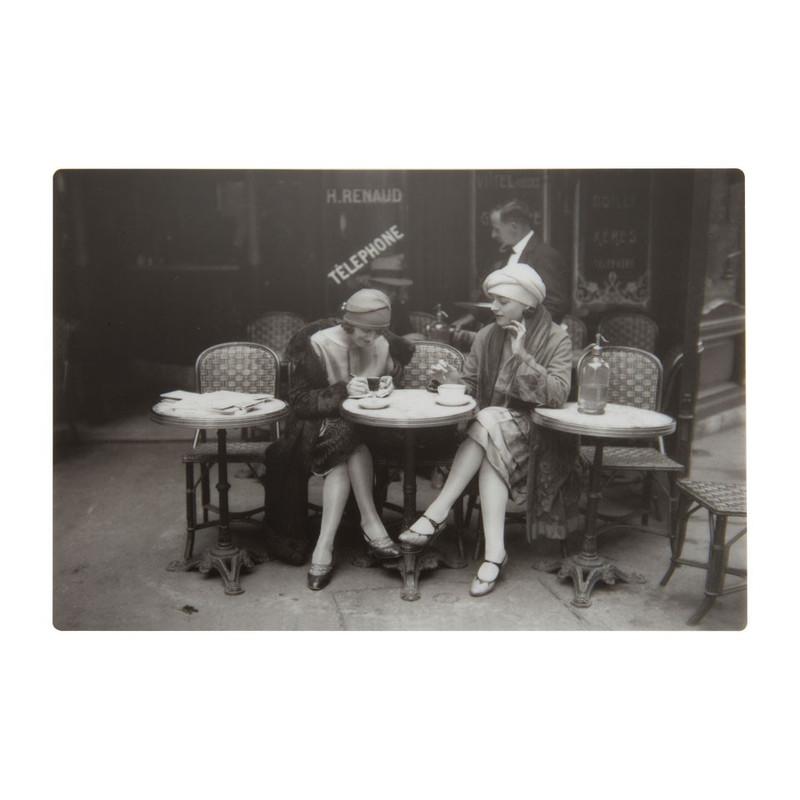 Placemat dames au bistrot - 45x30 cm