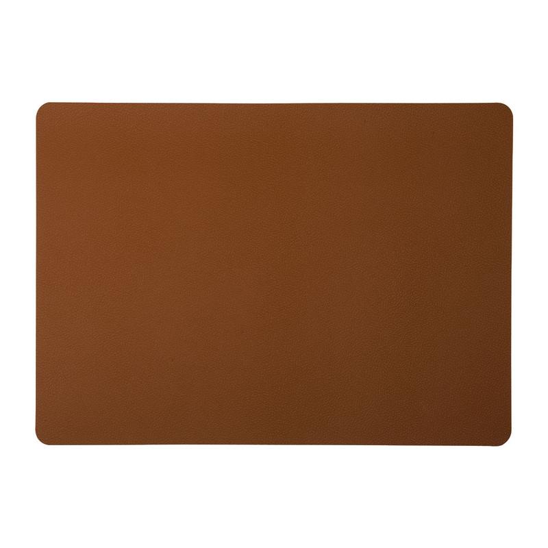 Placemat PU leer - bruin - 46x33 cm