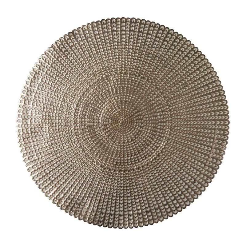 Ronde placemat - goud - 40 cm