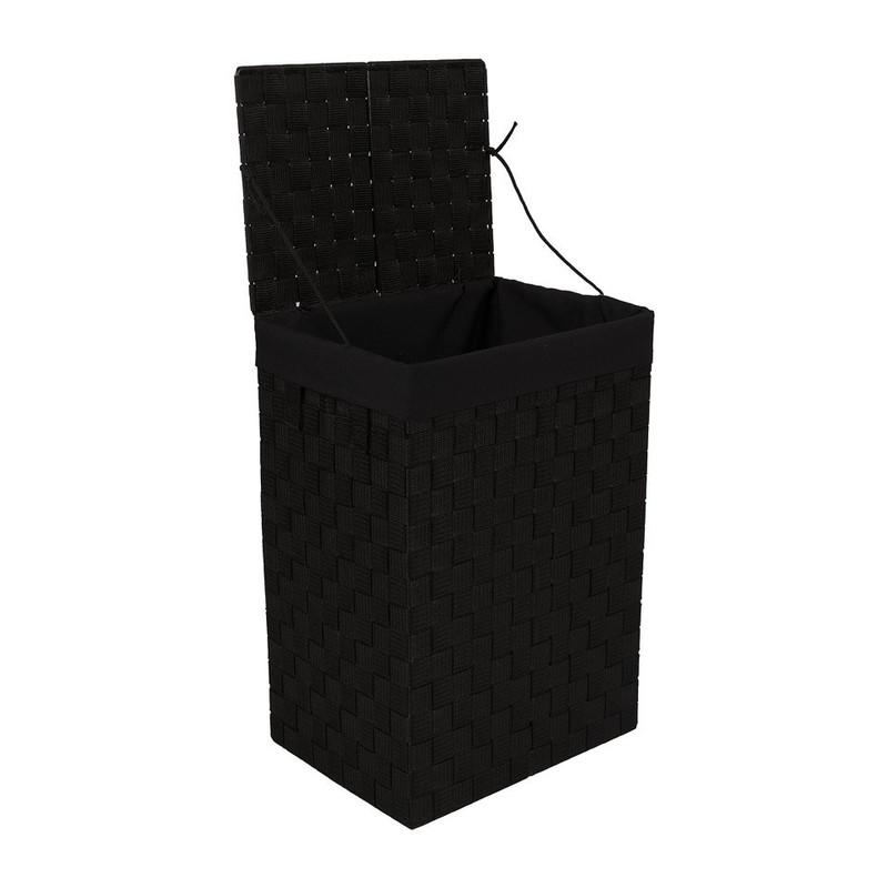 Wasmand M - 24x32x46 cm - zwart
