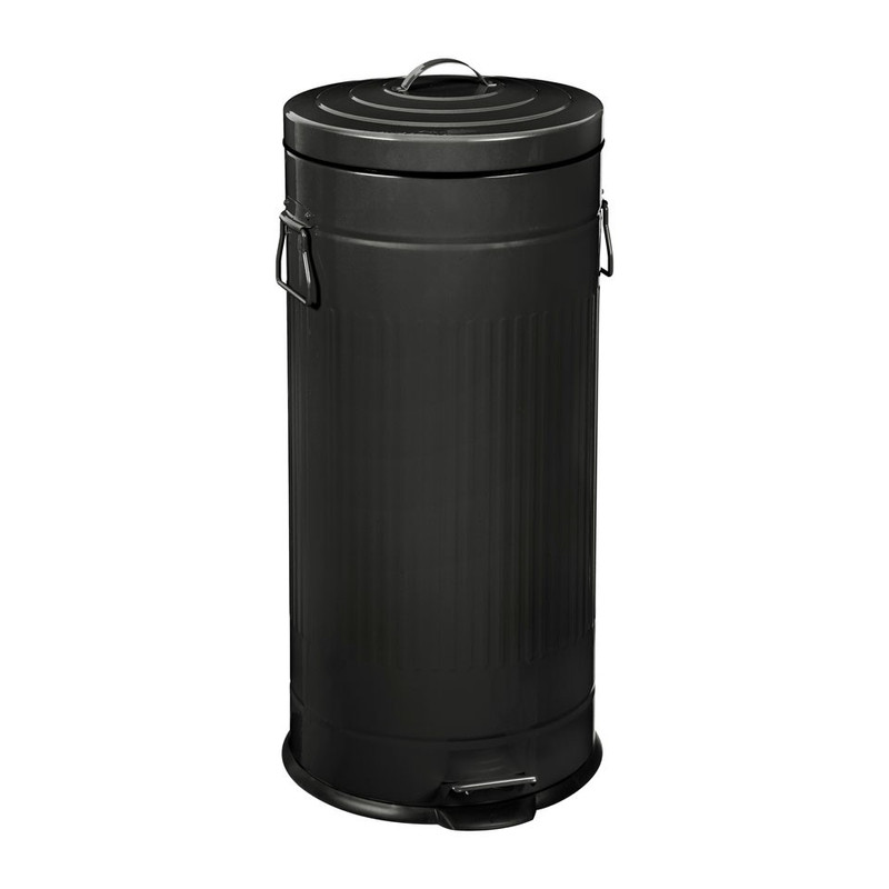 Pedaalemmer - 30 liter - zwart