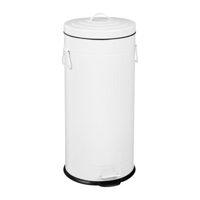 Pedaalemmer - 30 liter - wit