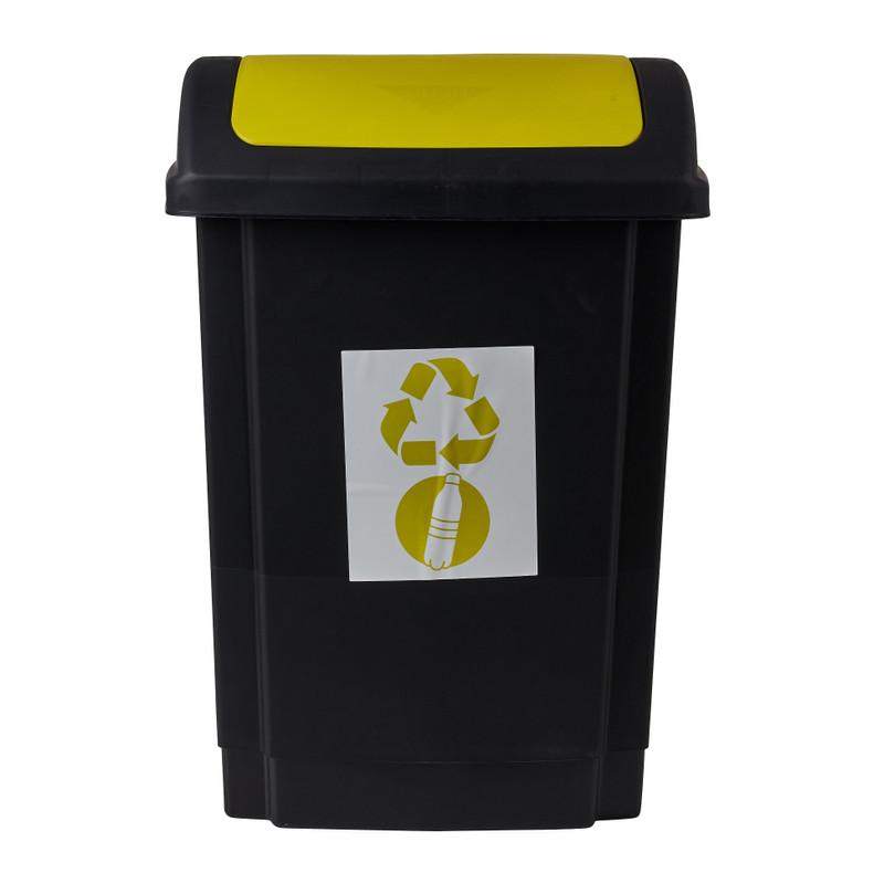 Prullenbak - geel - 25 liter