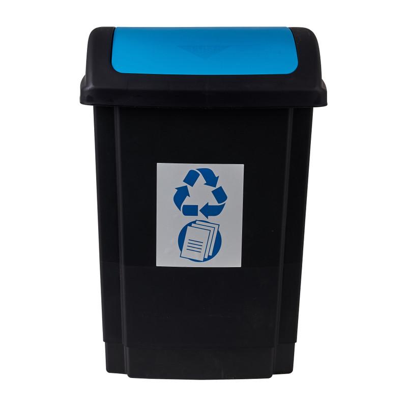 Prullenbak - blauw - 25 liter