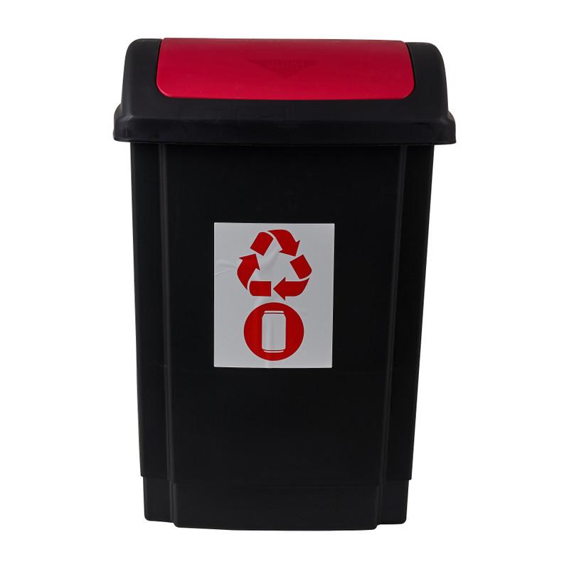Prullenbak - rood - 25 liter