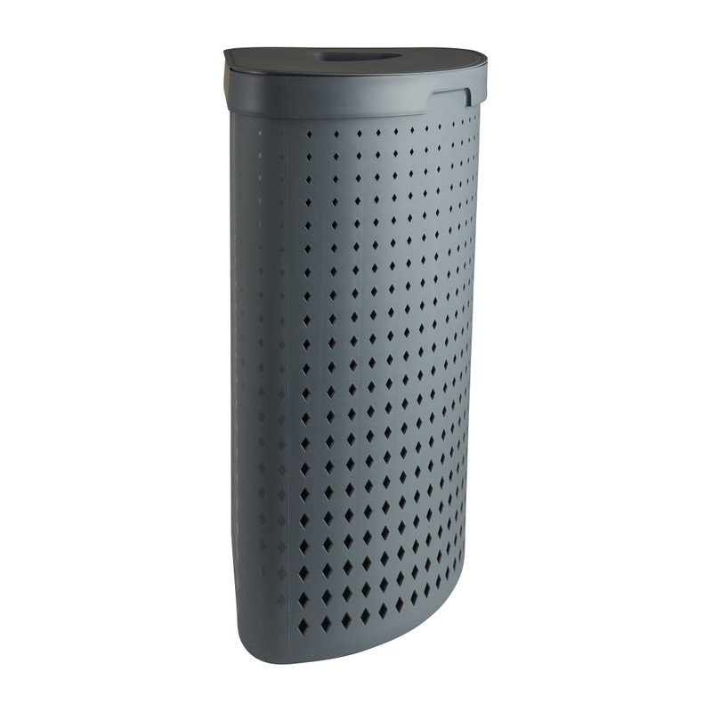 Wasmand hoek - grijs - 39,5x50x64 cm