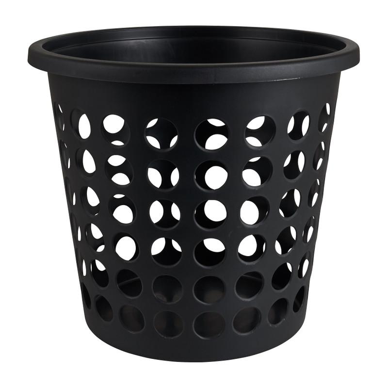 Wasmand rond - zwart - 38,6x35 cm