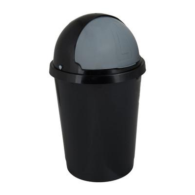 Afvalton bullit - 25 liter - zwart