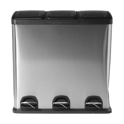 Pedaalemmer triple bin - 3x20 liter