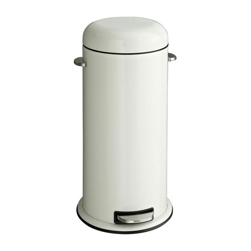 Pedaalemmer retro - 30 liter - crème
