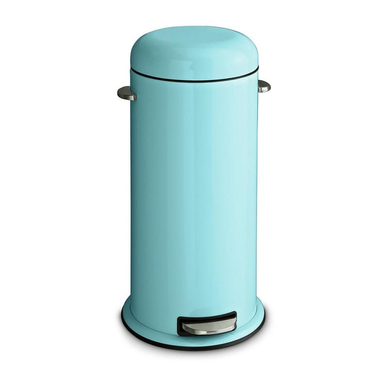 Retro pedaalemmer - blauw - 30 liter