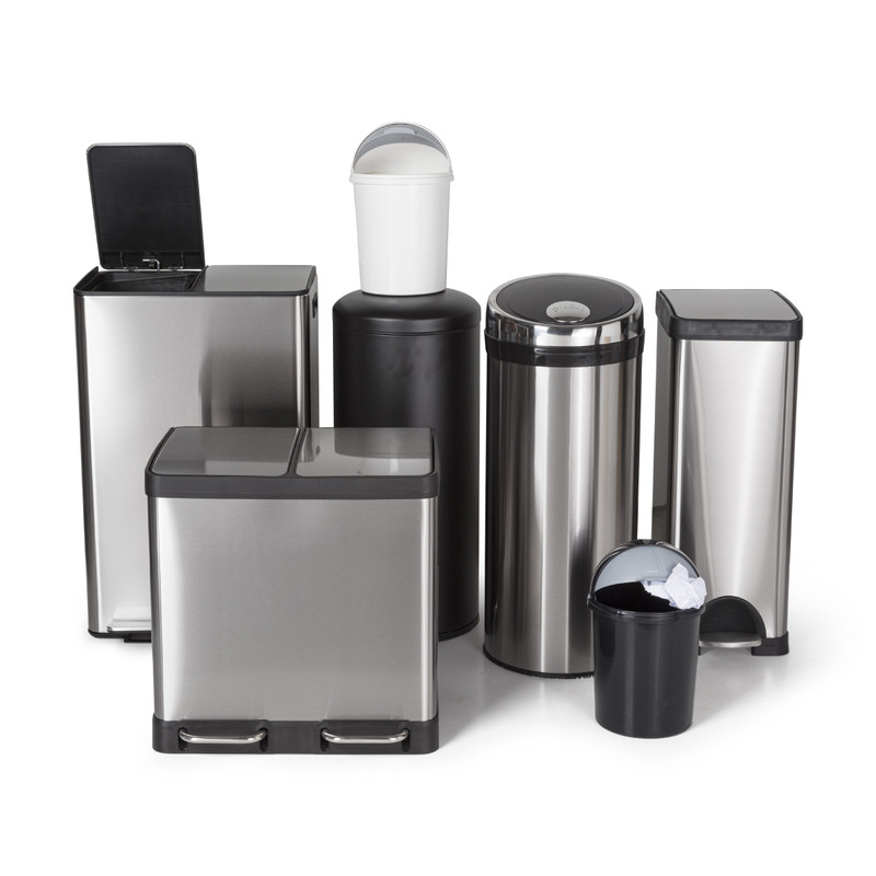 Pedaalemmer XL - 30 liter - zwart