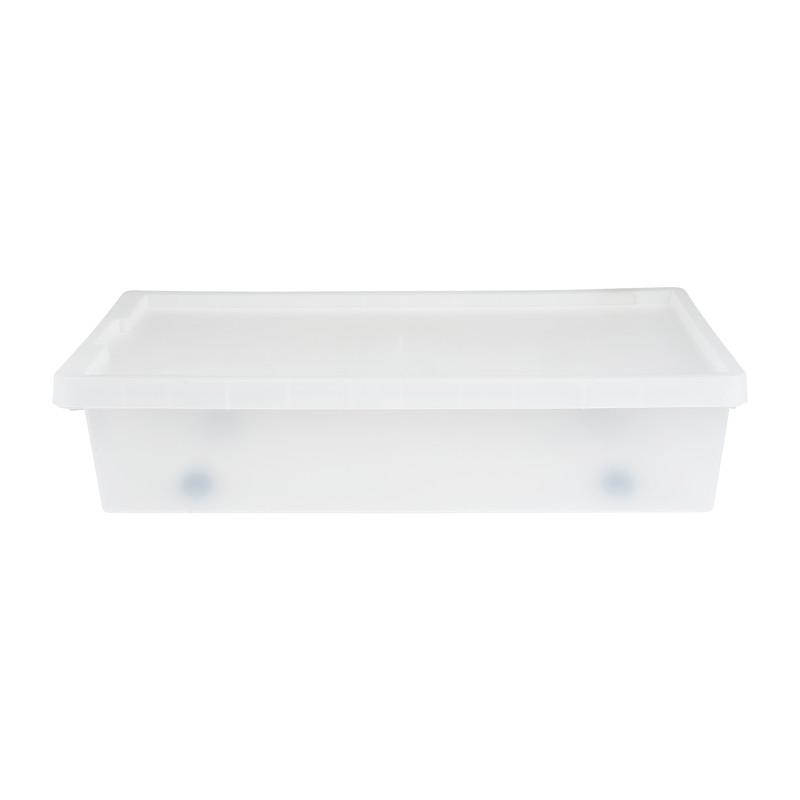 Opbergbox bed - Transparant - 70x39,5x17 cm