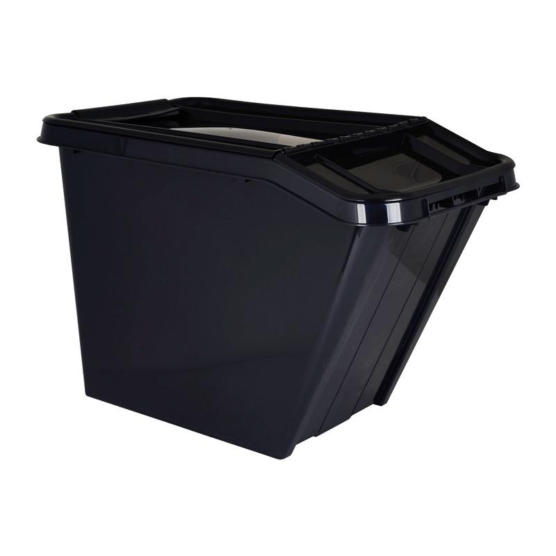 Opbergbox recycle - Zwart - 58L