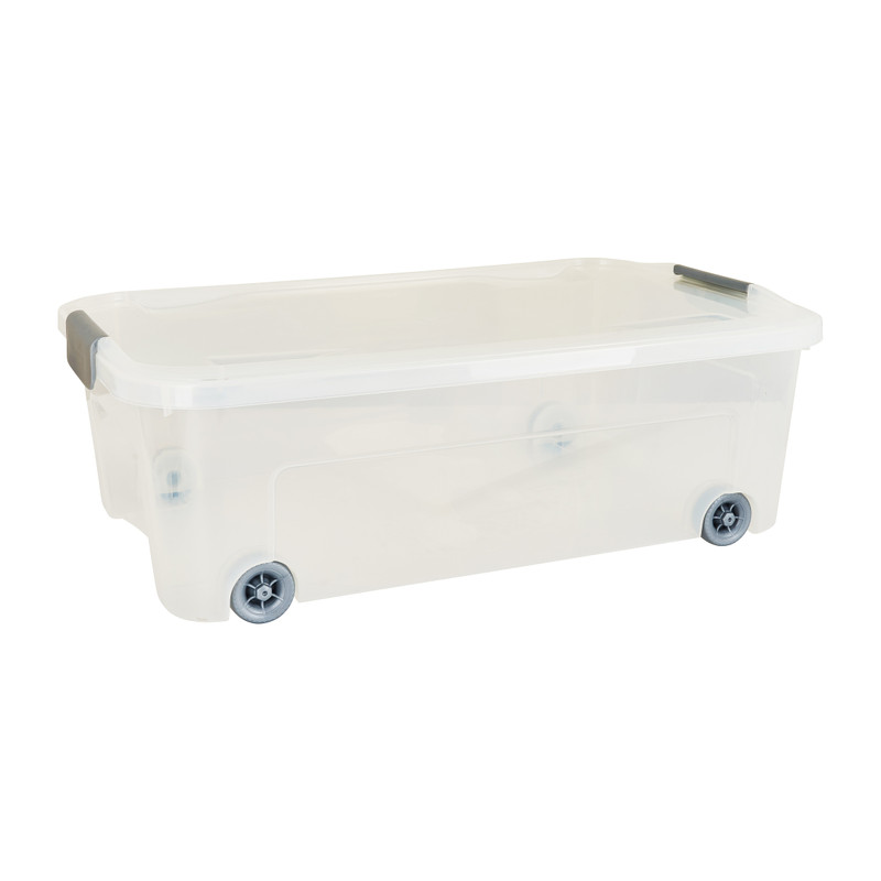 Onder-het-bed clipbox - transparant - 59,3x38x20 cm