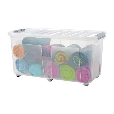 Clipbox met wieltjes - 100 liter - 80x40x40 cm