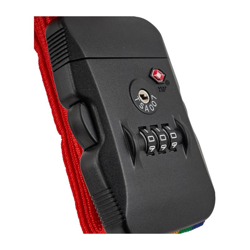 TSA kofferriem - 2 m - rood
