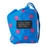 Travel poncho dots - blauw oud