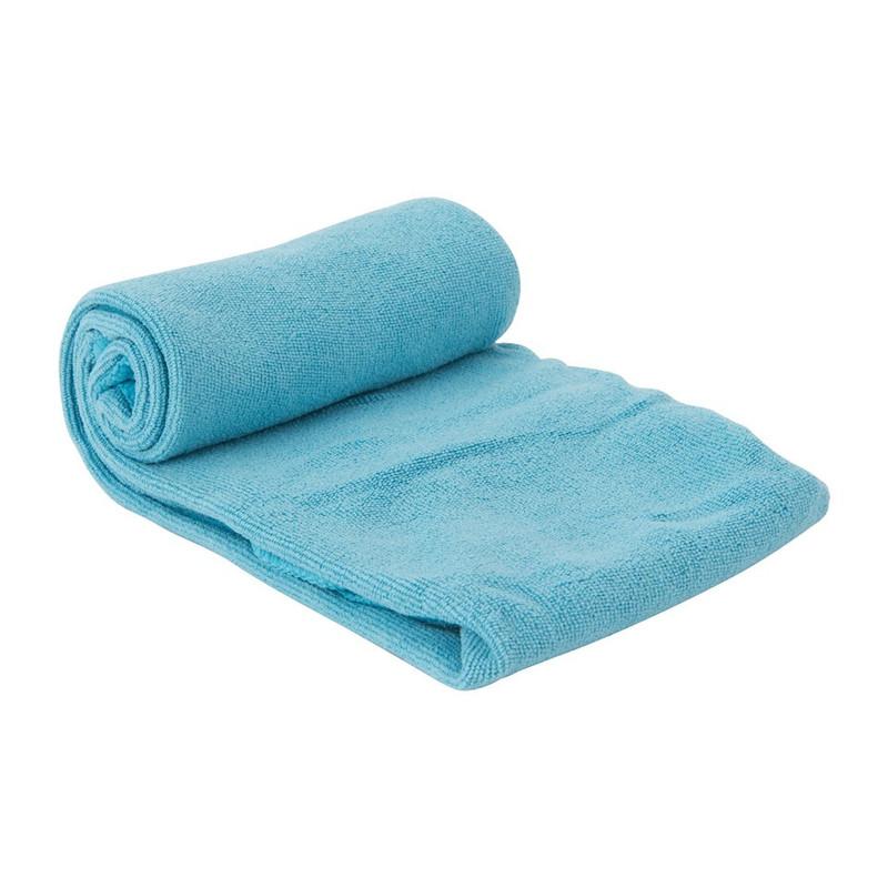 Reis- en sport handdoek - 40x80 cm - lichtblauw