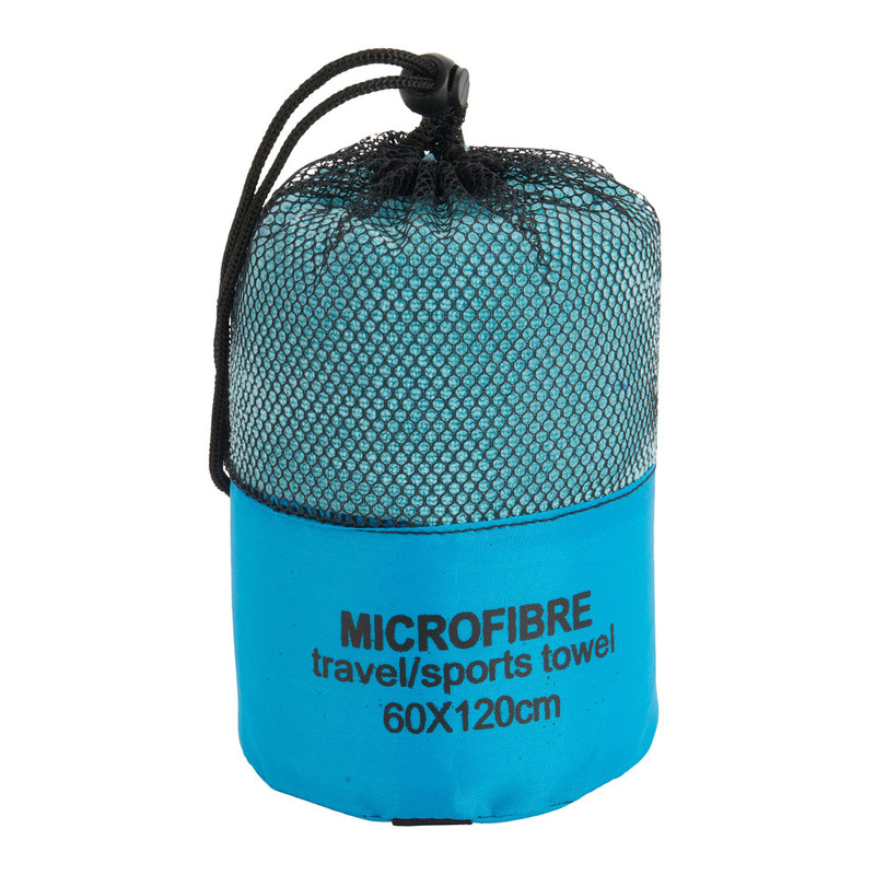 Travel-/sporthanddoek - 60x120 cm - blauw