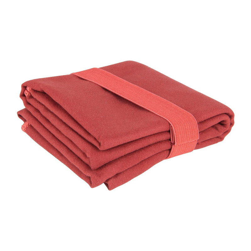 Travel-/sporthanddoek soft - 40x80 cm - rood