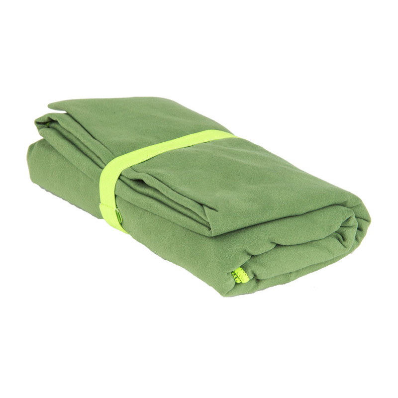 Travel-/sporthanddoek soft - 110x180 cm - groen