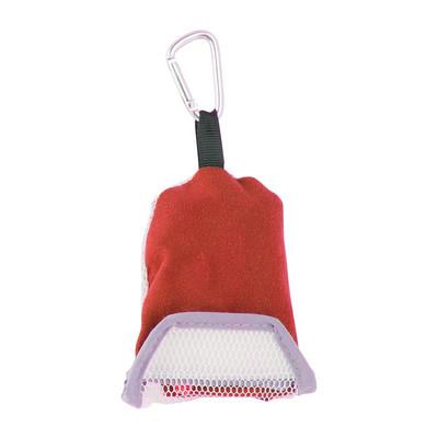 Travel-/sporthanddoek met karabijnhaak - 40x30 cm - rood