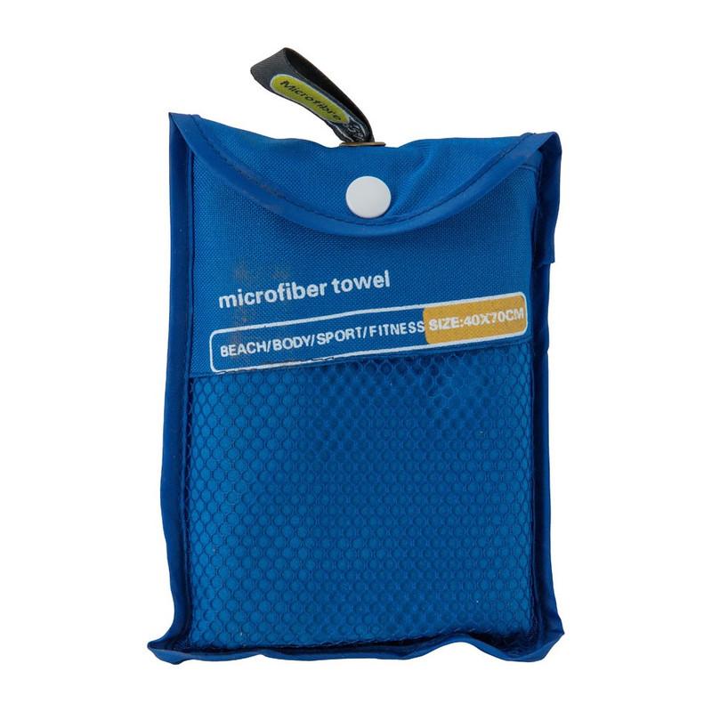 Travel-/sporthanddoek - 40x70 cm - blauw