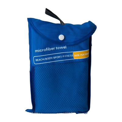 Travel-/sporthanddoek - 75x150 cm - blauw