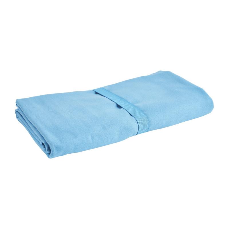 Travel-/sporthanddoek - blauw - 110x175 cm