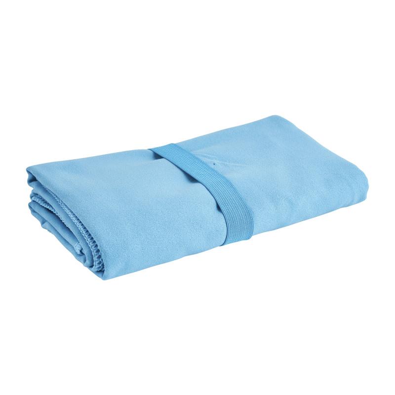 Travel-/sporthanddoek - blauw - 130x80 cm