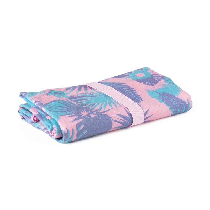 Travel-/sporthanddoek - roze - 130x80 cm