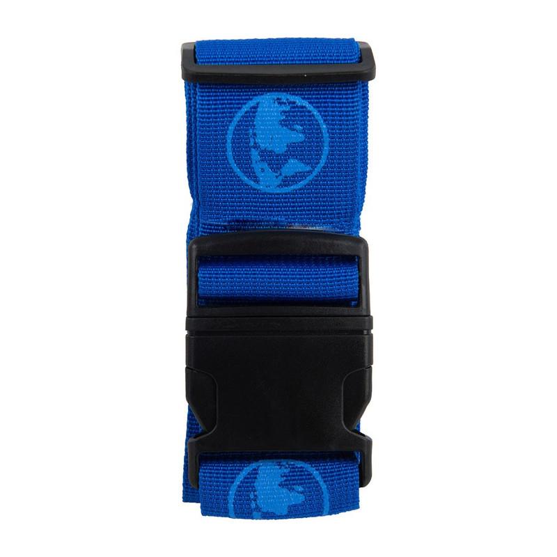 Kofferriem met print - 1.7 m - blauw