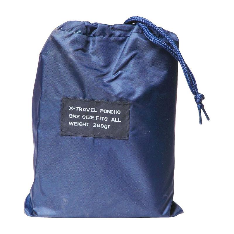 Travel poncho blauw