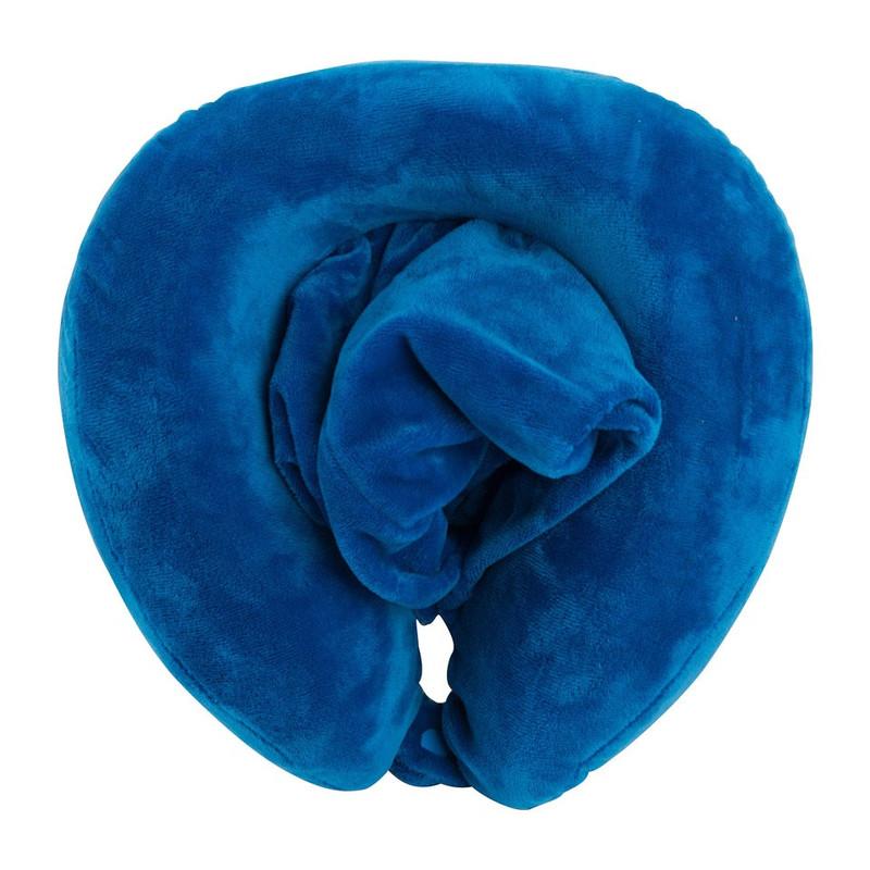 Nekkussen + capuchon - blauw