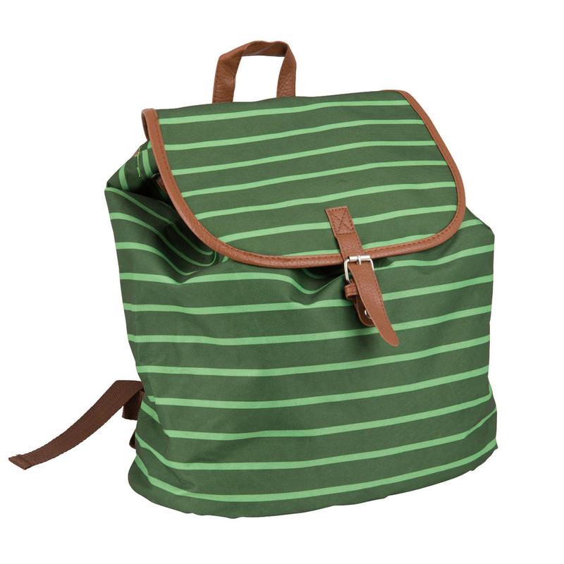 Rugzak met strepen - groen - 30x33 cm