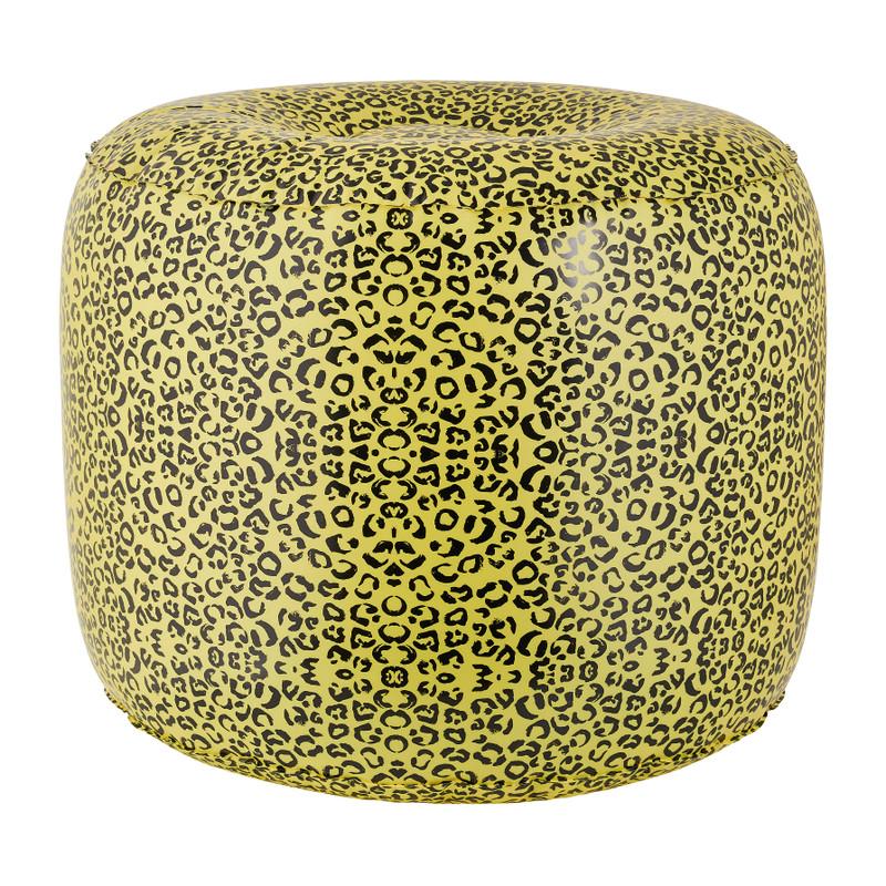 Opblaasbare poef leopard 50x40 cm