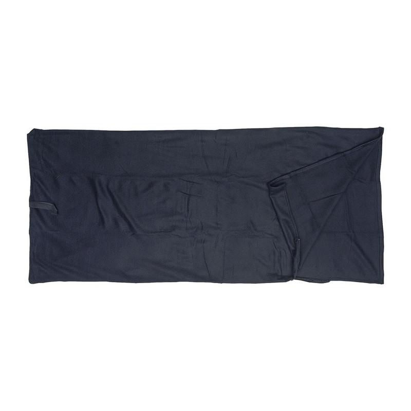 Slaapzak fleece - 190x80 cm - zwart oud