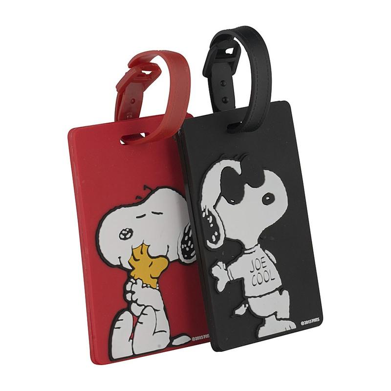 Kofferlabel Snoopy - set van 2
