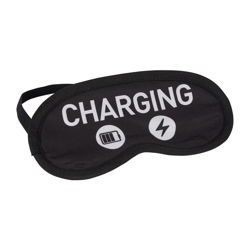 Slaapmasker charging - zwart - 19,5x9 cm